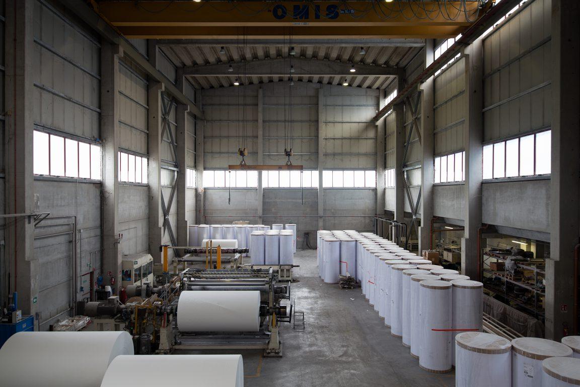 nuovo edificio per la produzione della carta