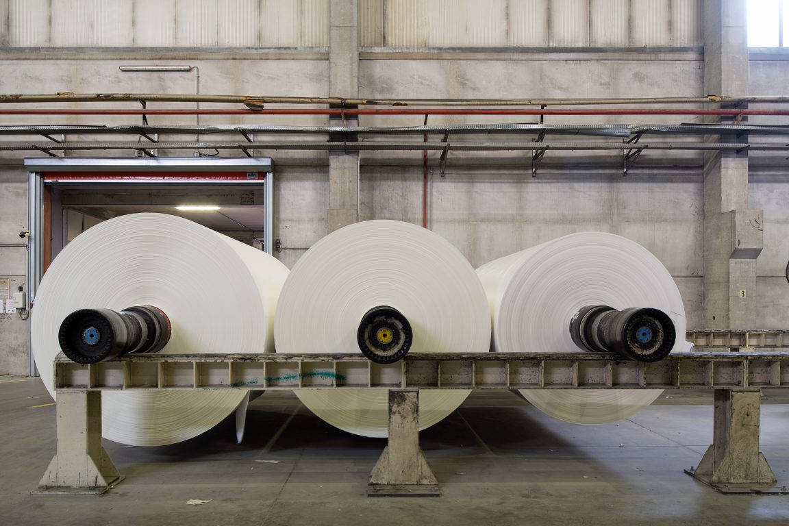 strutture di sostegno bobine di carta