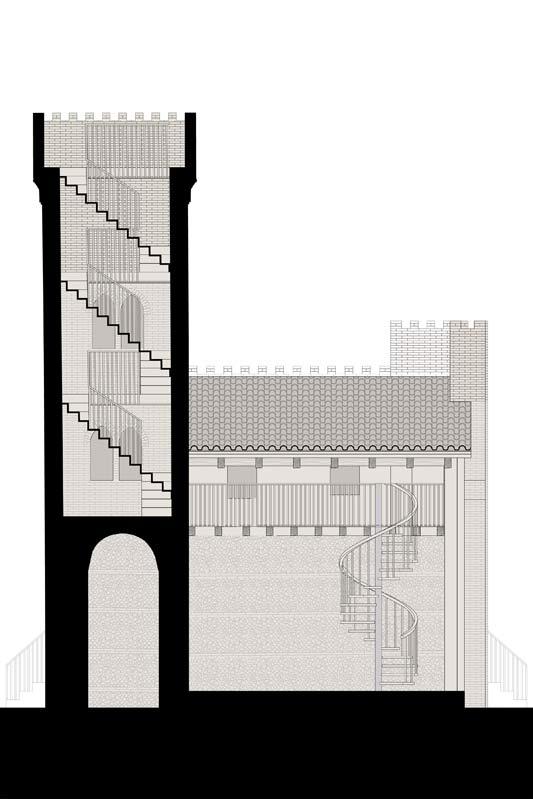 torre Breda, sezione longitudinale