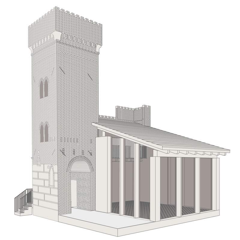 torre Breda, ricostruzione e restauro