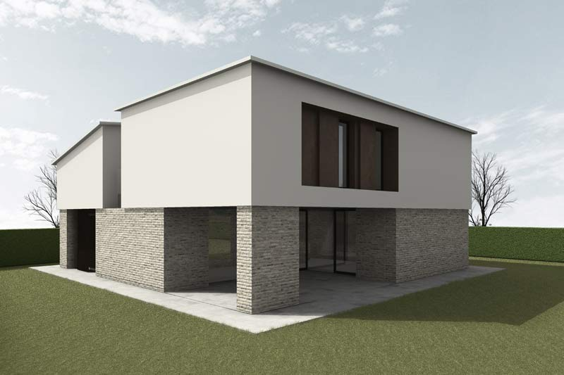 casa MM, proposta volumetrica