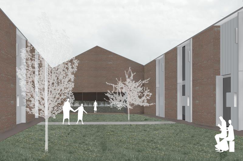 fondazione OIC, giardino interno